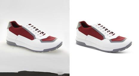 Clipping-path-applied-on-shoe-image-to-remove-its-background